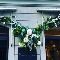 allestimenti natalizio fiorista bianchi