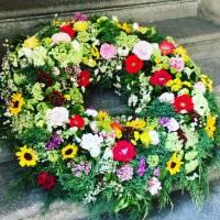 corona funebre fiorista bianchi